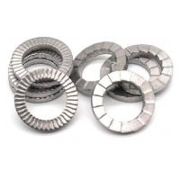 Quality Zinc Plate Surface Double Fold Steel Flat Washers / Wedge Lock Washer DIN25201 for sale