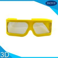China ABS Frame Plastic Circular Polarized Lenses 3D Theater Glasses With Big Size on sale