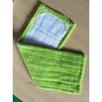 Buy cheap Microfiber 14*48 Green Twisted Fold Oxford Fabric Pocket Wet Mop Head Pads from wholesalers