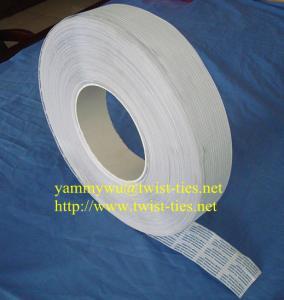 Quality trash bag paper/plastic twist ties for sale