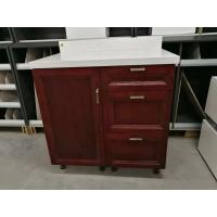 Quality Simple Finished Oak Kitchen Cupboards , Waterproof Small Particle Board Cabinets for sale
