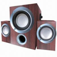 Quality 2.1-ch Wooden Multimedia Computer Speakers, New Item for sale