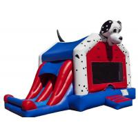 Quality Spotty Dog Inflatable Bounce House Jumping Bouncer 0.9mm Plato PVC For Amusement Park for sale