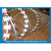 Quality Stainless Steel BTO-22 Concertina Razor Wire / Security Barbed Wire for sale