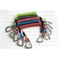 Quality Heavy Weight Plastic Coil Lanyard , Coiled Tool Lanyard With Double 316 Stainless Steel Clips for sale