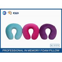 Buy cheap Cotton Comfort Travel Memory Foam Pillow For Head And Neck Pain , Embroidery Printing from Wholesalers