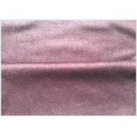Pink Wool Cashmere Coating Fabric Knitted, Customized Wool Blend Suiting Fabric