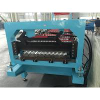Quality Aluminium Corrugated Profile Roofing Sheet Roll Forming Machine Auto PLC Frequency Control for sale