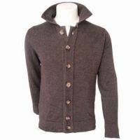 Quality Men's Leisure Woolen Cardigan/Jacket/Coat, Comfortable and Fashionable, Comes in Brown for sale