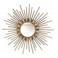 Quality China Factory Good Price Gold Finish Sunburst Decorative Wall Mirror For Home Decor for sale