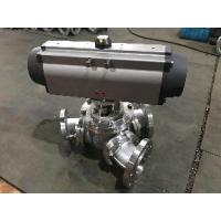 Quality aero2 pneumatic actuator air control  three way Y type ball valve for sale