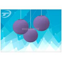 Quality Colorful Chinese Round Paper Lanterns / Paper Party Lanterns, available in different colors and sizes for sale