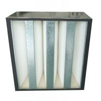 Quality Low Resistance V Bank Mini-Pleat Media Air Filters With Abs Plastic Frame for sale