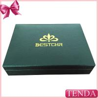 Quality Top Rated Best Custom Silver Golden Logo Wood Real Black Leather Packing Box with Velvet EVA Holder for sale