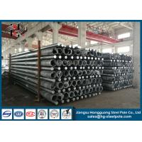 Quality 350daN Octagonal Steel Tubular Pole For Transmission Line Overhead Project for sale