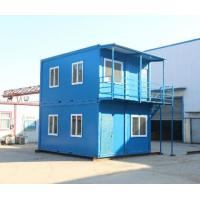 Buy steel structure movable worker camp two stories flat pack container house at wholesale prices