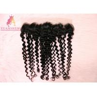 Quality Unprocessed Virgin 13x4 Lace Frontal  Malaysian Curly Human Hair No Tangle for sale