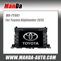 Quality hot sell car dvd gps for Toyota Highlander 2015 in-dash car entertainment system for sale