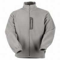Quality Men's Fleece Jacket with Nylon Zipper for sale