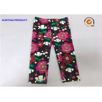 Quality Eco Friendly Kids Printed Leggings , No Side Seam Warm Leggings For Baby Girl for sale
