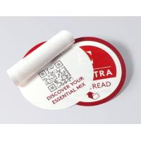 Round Shape Multi Layer Labels , Custom Design Peel And Reseal Labels for sale