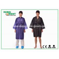 Quality Disposable Spa Robes Nonwoven Material Made PP Kimono , Black / Purple for sale