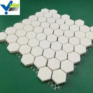 "Quality 92% alumina hexagon tile hex 6*6*1/2"" mat sheet for sale"