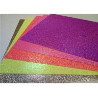 Quality Heat - Resistant Sticky Back Glitter Paper , Handmade Adhesive Glitter Paper for sale