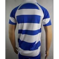 Vintage Valiant Rugby Shirt In Ultramarine Gold: Mens Blue And White Rugby Shirt Rugby Training Wear 100