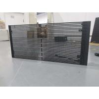 Quality 60% Transparency Rate 8000nits Brightness Mesh LED Display P25 Fixed On the Facade Building for Video Displaying for sale