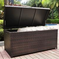 Quality high capacity wicker woven storage furniture patio rattan box for sale