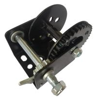 China Black Color 600lb Manual Winch With Brake / Portable Hand Crank Winch on sale