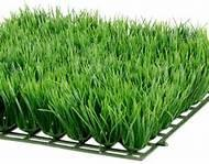 China Olive straight Decorative Artificial Grass / fake grass squares on sale