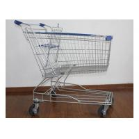 Buy cheap Galvanized Supermarket Shopping Cart 2 Tiers Grocery Store Baskets On Wheels from wholesalers