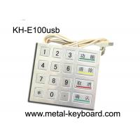 China 4 4 Design 16 Keys Payment Metal Kiosk keypad with PS2 / USB Interface on sale