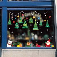 Buy Shop Window Christmas Wall Stickers Decoration PVC Material Eco - Friendly at wholesale prices