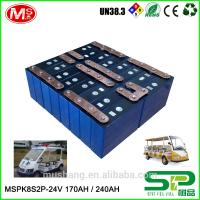Quality High-efficiency rechargeable 24v100ah Lithium ion battery with PCM For Electric Sightseeing car for sale