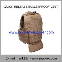 Quality Wholesale Cheap China Army Tan Color  Quick-Release Police Bulletproof Vest for sale