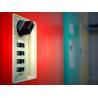 Factory Keyless ABS Plastic Lockers 5 Tier Red Door Changing Room Lockers for sale