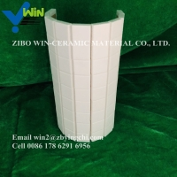 Buy cheap 92%95% small tolerance wear resistant zibo manufacture white industry ceramic from wholesalers
