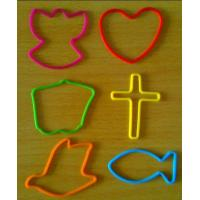 Quality 190 mm Red / Yellow / Blue Silicone Elastic Rubber Bands, Silly Band Bracelets For Girls for sale
