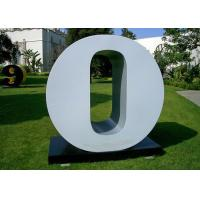 Quality Letter O Garden Free Standing Sculpture Large Stainless Steel letter Sculpture for sale
