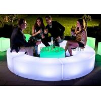 Quality Outdoor / Indoor LED Bar Stool PL13 LED curved benches for party for sale