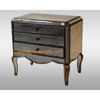 Quality Direct factory price antique glass venetian mirrored bedside cabinet  furniture for sale