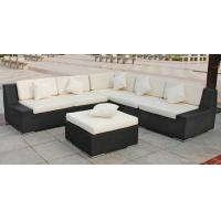 Quality Outdoor Rattan Furniture , Garden Sectional Sofa Set With Ottoman for sale
