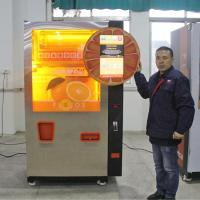 Quality Commercial Auto Fresh Orange Juice Vending Machine Credit Card / Coins And Notes Acceptors for sale