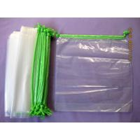 Buy cheap Personalised HDPE / LDPE Clear Drawstring Plastic Bags For Packaging from Wholesalers