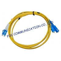 Quality FTTH Fiber Optic Patch Cord Low Insertion Loss LC - SC Duplex for sale