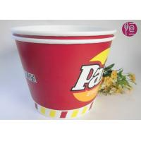 Quality 120oz Paper Popcorn Buckets Logo Printed , Disposable Popcorn Containers for sale