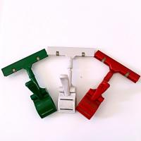 Quality Colorful Thumb Price Tag Holder Clip , Supermarket Pop Clip In Red Green White for sale